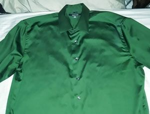 KENNETH COLE REACTION dark green XL dress shirt